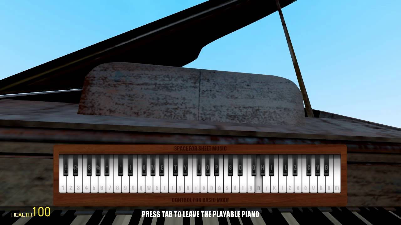 Me The Playable Piano In Gmod - Imagez co