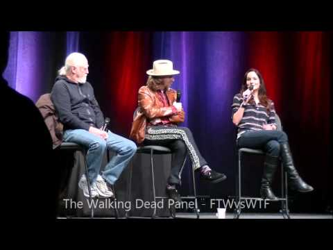 The walking dead s scott wilson sarah wayne callies lew temple ottawa pop  expo