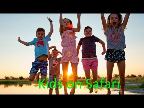 Kids on safari, Gomoti Plains Camp, Machaba Safaris, Botswana