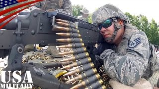 m240機関銃 m249軽機関銃 空軍州兵の射撃訓練 m240 m249 machine gun live fire u s air national guard