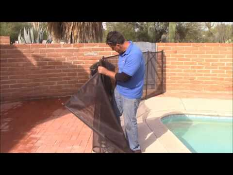 Removable Mesh Type Pool Fence Installation and Take Down