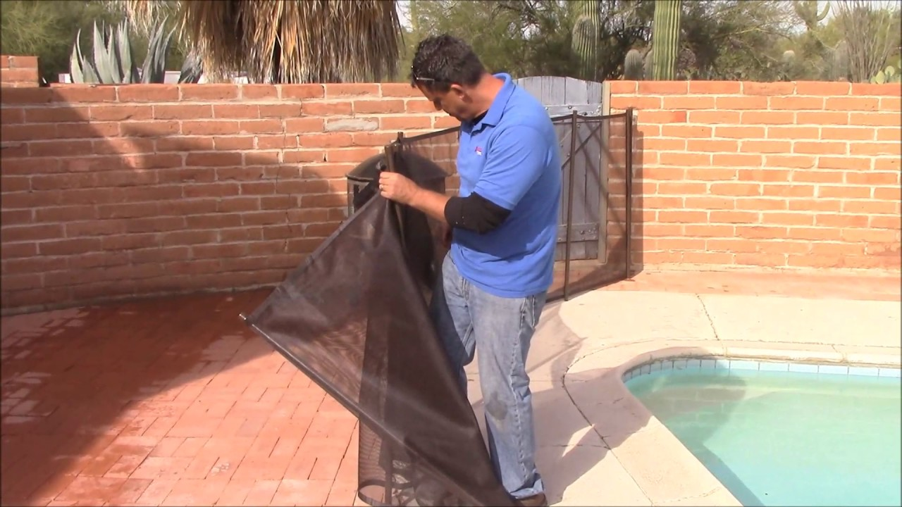 Removable Mesh Type Pool Fence Installation And Take Down Youtube