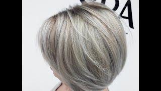 Холодное омбре на короткие волосы TIGI
