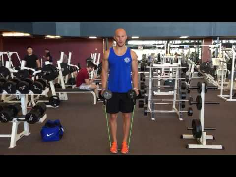 Use Bands With Dumbbells