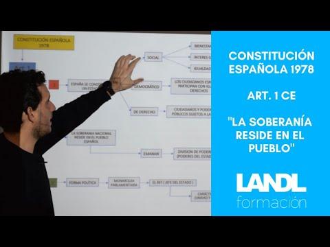 Constitución española 1978 para oposiciones y esquema artículo 1 título preliminar