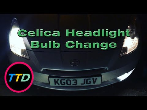 Toyota Celica Headlight Bulb Change In 3 Minutes