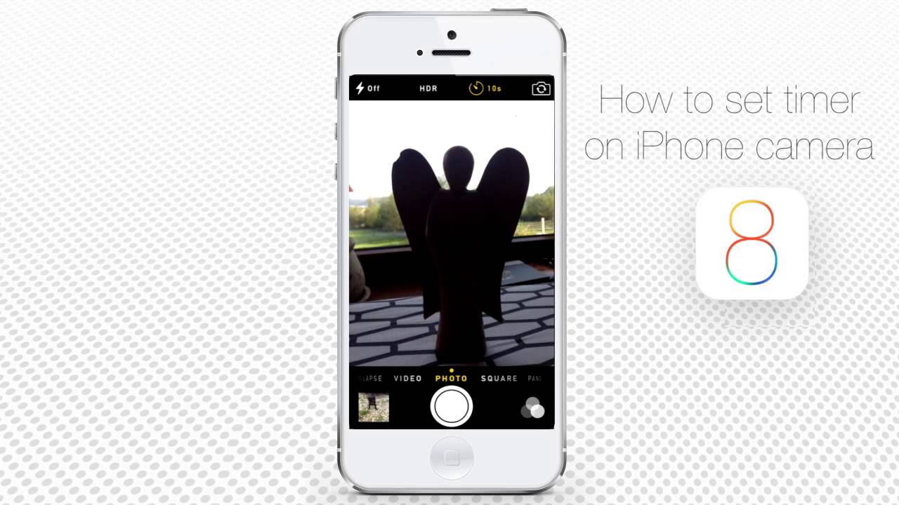 How To Set Timer In Camera Of Iphone And Ipad Youtube