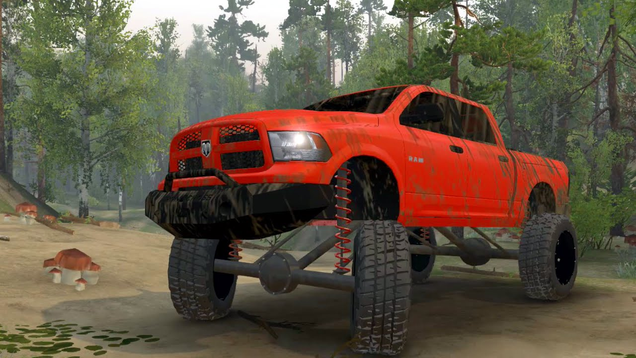 Spin Tires BIG LIFTED Dodge Ram 1500 - YouTube