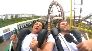 Scary Roller Coaster Freak Out. Roller Coaster FAIL!!!!!