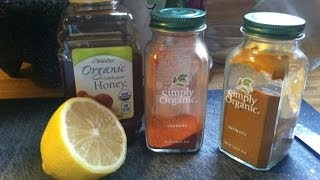 Natural Heart Disease, High Blood Pressure Treatment. Cayenne Turmeric Honey Lemon Tea