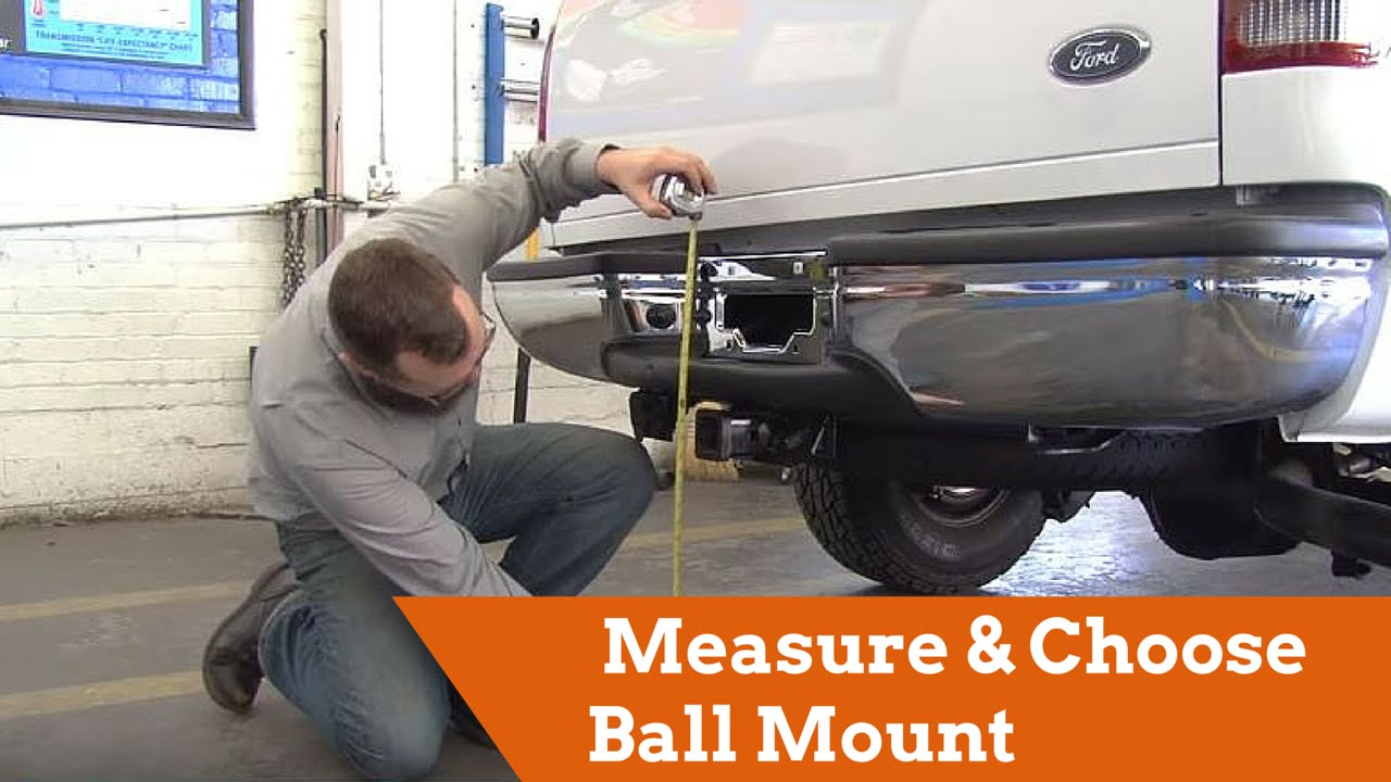 measuring  choosing  correct ball mount youtube