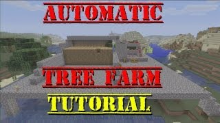 Minecraft Xbox | AUTOMATED TREE FARM | Tutorial (semi automatic)