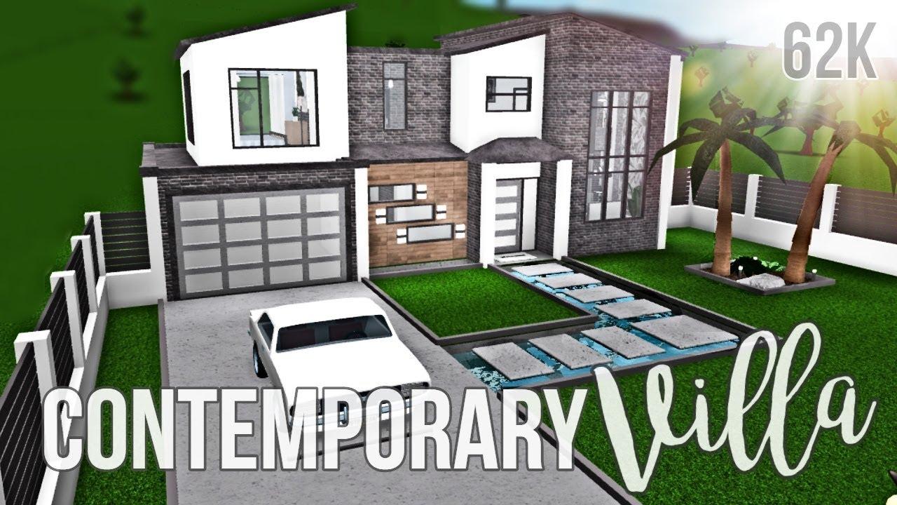 Bloxburg Contemporary Villa 62k Youtube