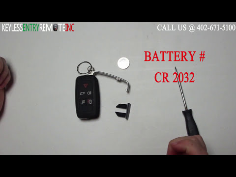 How To Replace Land Rover LR4 Key Fob Battery 2010 – 2015