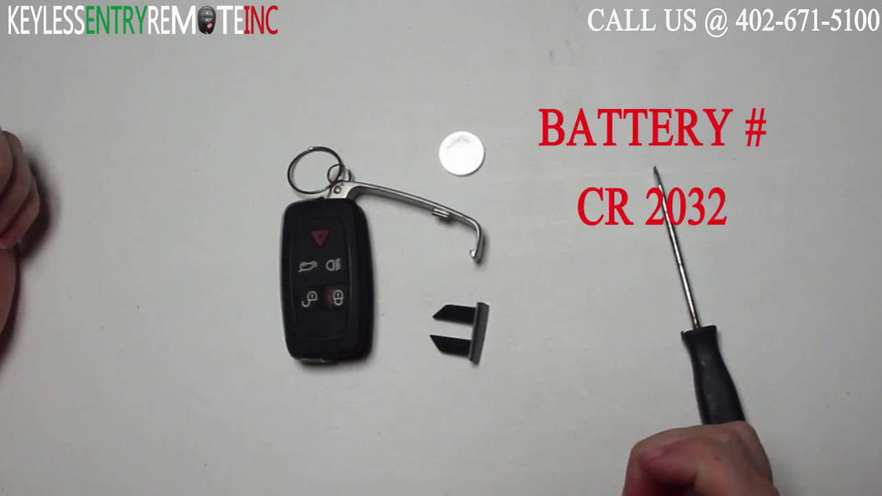How To Replace Land Rover LR4 Key Fob Battery 2010 2011 2012 2013