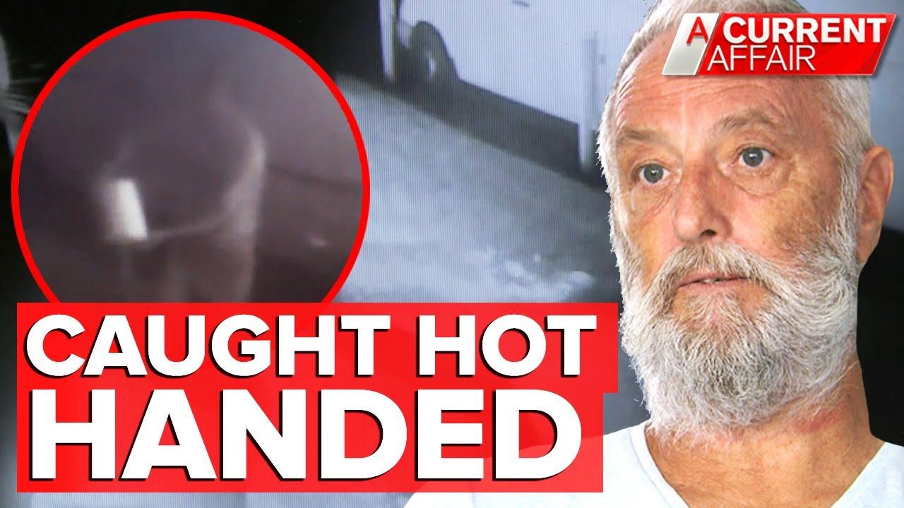 Alleged firebug caught on CCTV lighting neighbour's lawn | A Current Affair