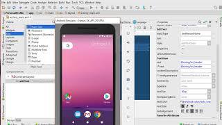 Persönliches Profil Ap in Android Studio-Schritt 2