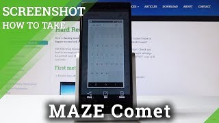 How to Take Screenshot in MAZE Comet - Screen Capturing Instructions