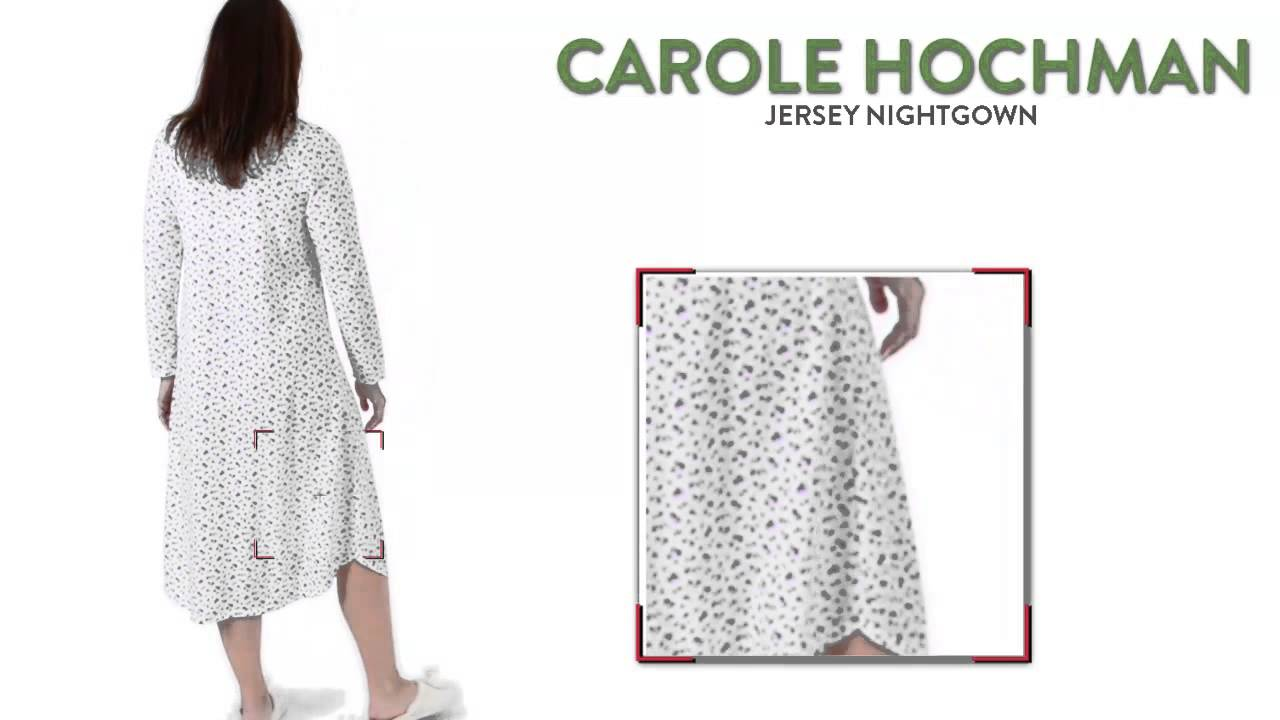 Carole Hochman Jersey Nightgown - Long Sleeve (For Women) - YouTube 828fb58fc