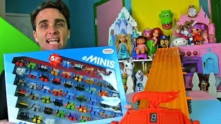 Thomas & Friends MINIS 50-Pack + Hot Wheels Super Six Lane Race ! ||  Toy Unboxing || Konas2002