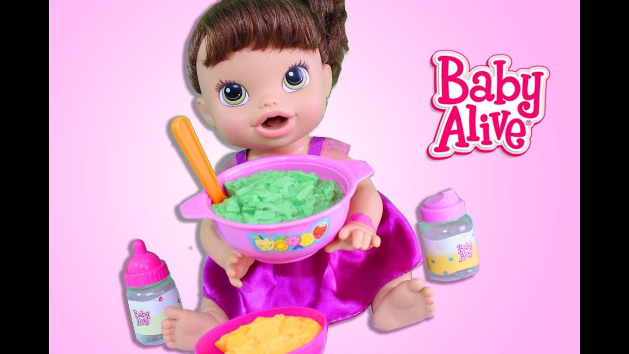 6ad1fa31bf Baby Alive Minha Boneca Comendo Papinha do Bebê Hora do Faz de Conta ...