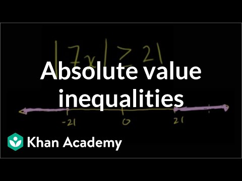 Absolute value inequalities | Linear equations | Algebra I | Khan Academy