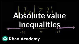 Absolute value inequalities | Linear equations | Algebra I | Khan Academy thumbnail