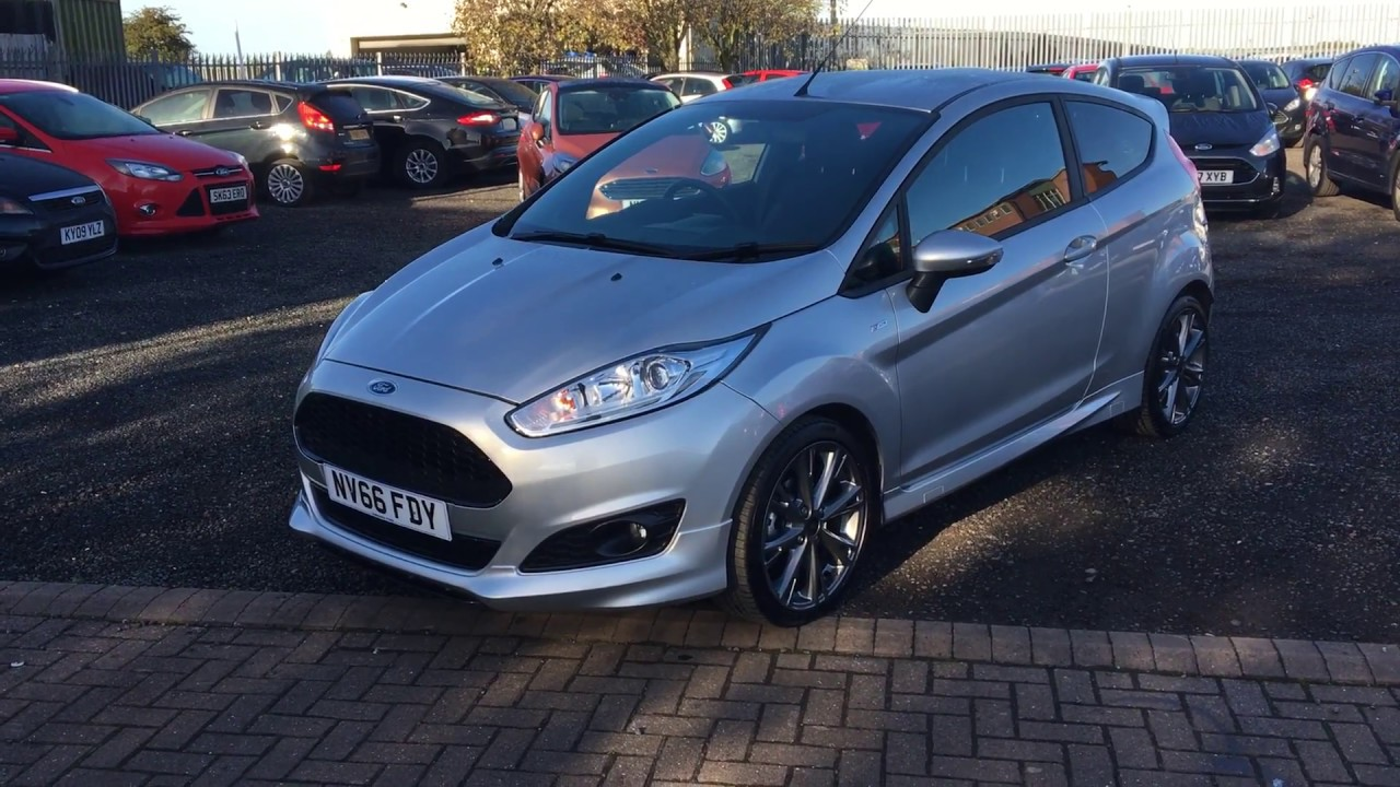 used ford fiesta 1 0 ecoboost 125 st line 3dr silver 2016 youtube. Black Bedroom Furniture Sets. Home Design Ideas