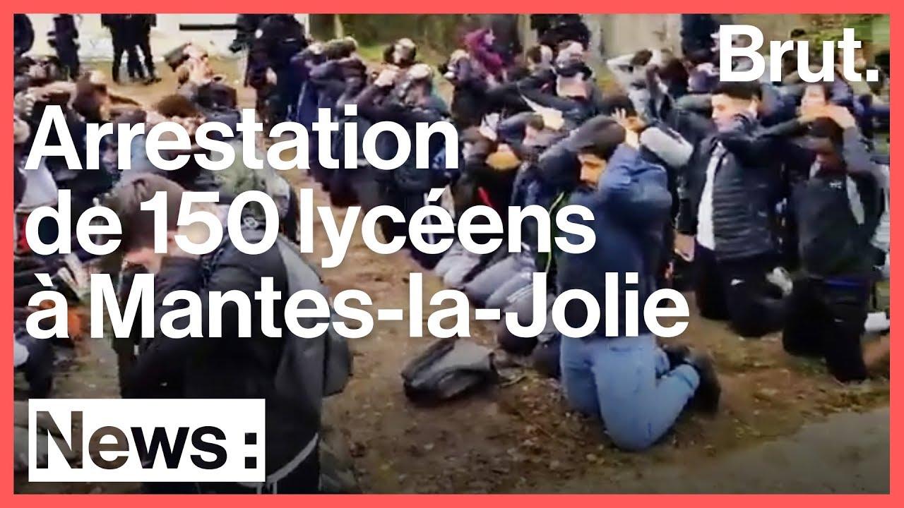 Mantes-la-Jolie : les images de l'arrestation par la police de 150 élèves du lycée Saint-Exupér