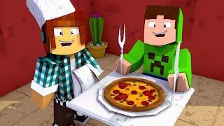 Minecraft : COMECEI UM RESTAURANTE COM MEUS AMIGOS !