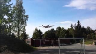 dji f550 heavy lift first test flight t motor mt4006 13 740 kv 12 propps