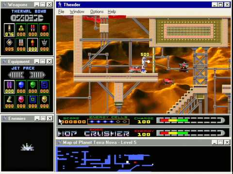 Thexder: For Windows 95... played on a Pentium 166mhz with Windows Millenium (1995)