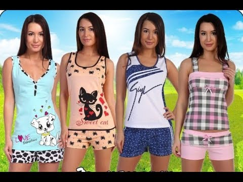Пижама с шортами Совята от Дамаск трикотаж - YouTube