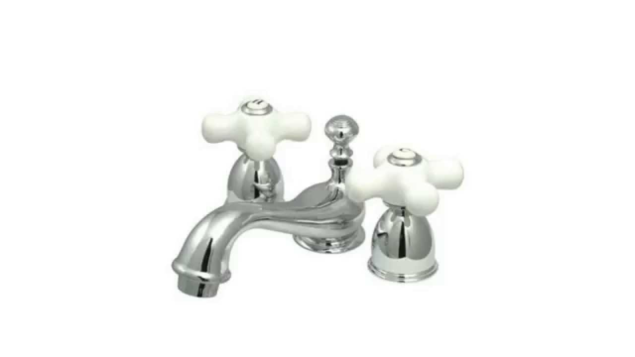 Kingston Brass KS3951PX Restoration Mini Widespread Lavatory Faucet ...