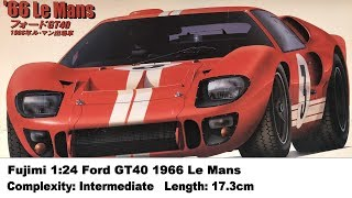 Fujimi 1:24 Ford GT40 P1047 1966 LeMans Kit Review