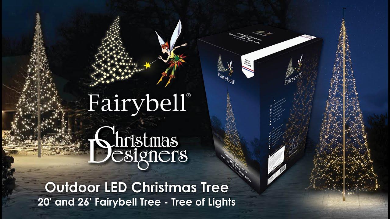 Christmas Designers.20 And 26 Fairybell Flagpole Tree Tree Of Lights Christmas Designers