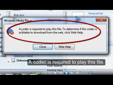 codec wvc1 windows media player