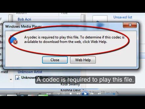 windows media player codec update