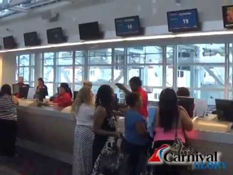 Carnival Glory Cruise Line Check In At Miami Terminal 2