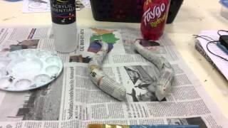 ♑️ How to make Papier Mâché Troll Horns ♑️