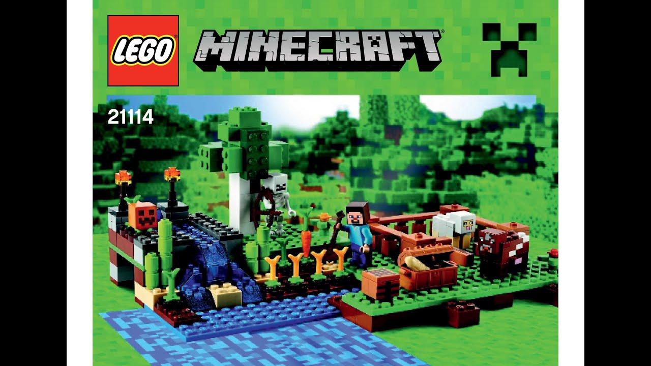 Lego 21114 The Farm Instructions Lego Minecraft Youtube