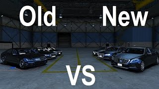 gta v   old vs new   mercedes s class bmw 7 series audi a8