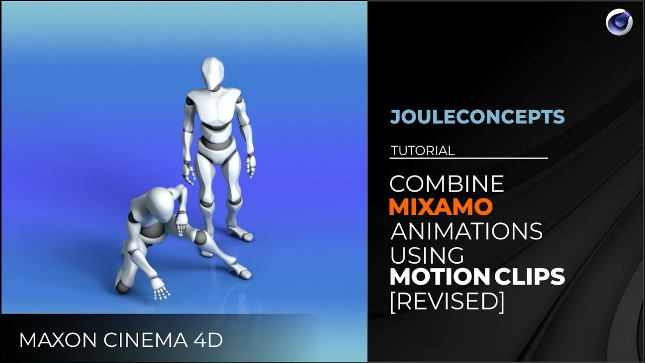 Cinema 4D - Combine Mixamo Animations Using Motion Clips [REVISED]