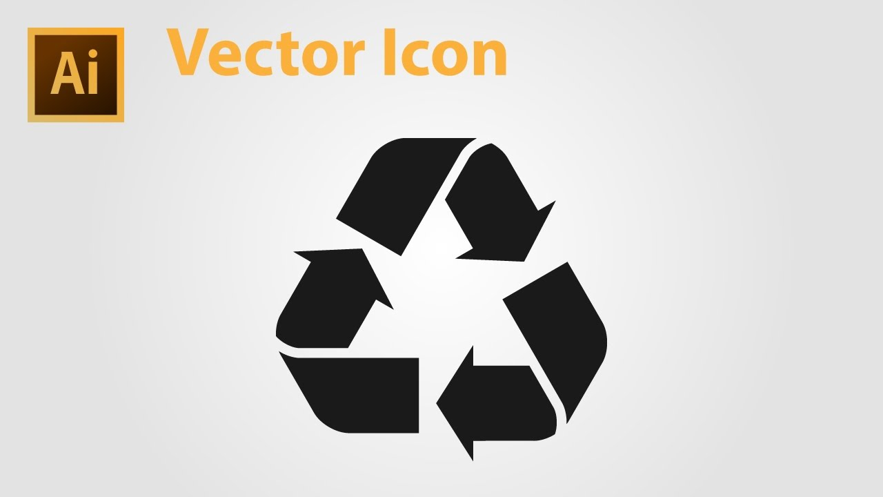 How To Draw Recycle Icon Adobe Illustrator Youtube