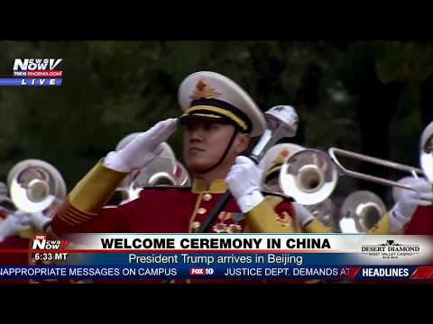 FNN: Trump in China Welcome Ceremony in Beijing, Bilateral Meeting with Xi, VP @ TX Shooting Prayer