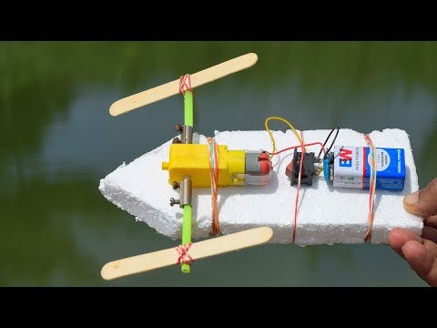 How To Make A Boat Using Thermocol and DC motor (very easy) thumbnail