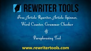 Free Article Rewriter Software |Best  Rewriter Software  Rewrite Your Article in 2 minuets