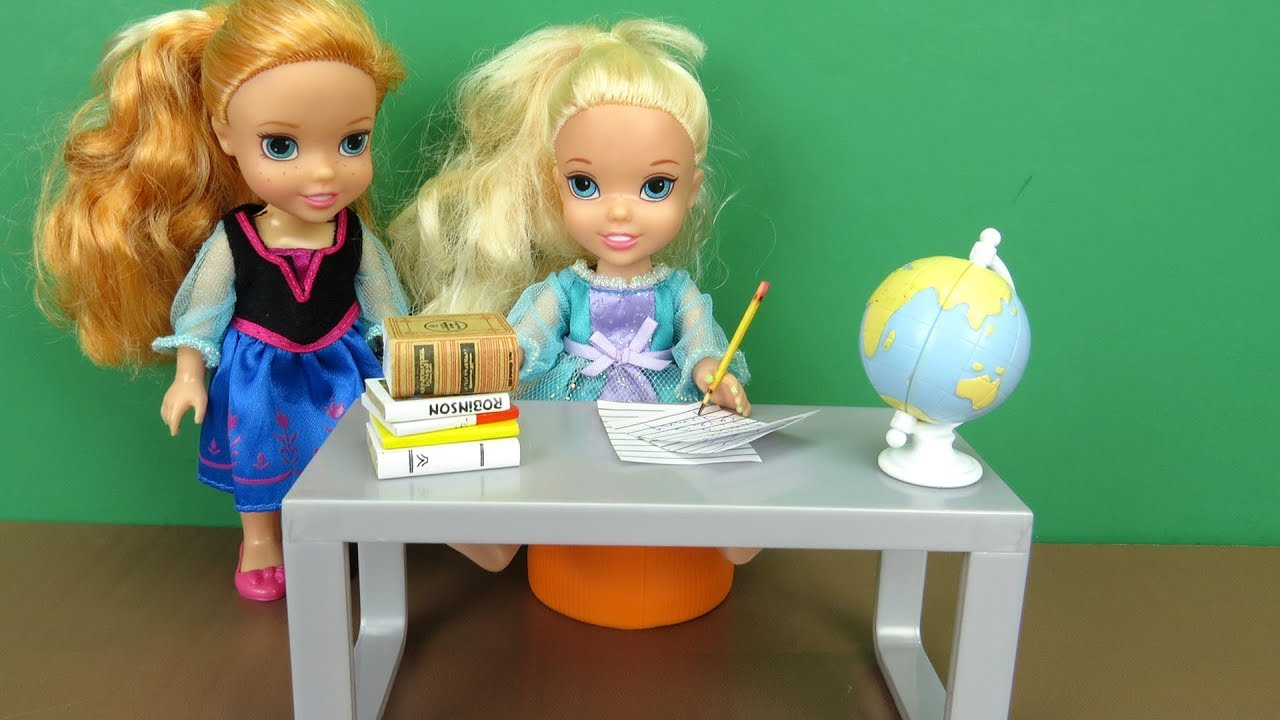 Weekend Homework Elsa And Anna Toddlers Morning Routine Someone Wakes Up Late Youtube