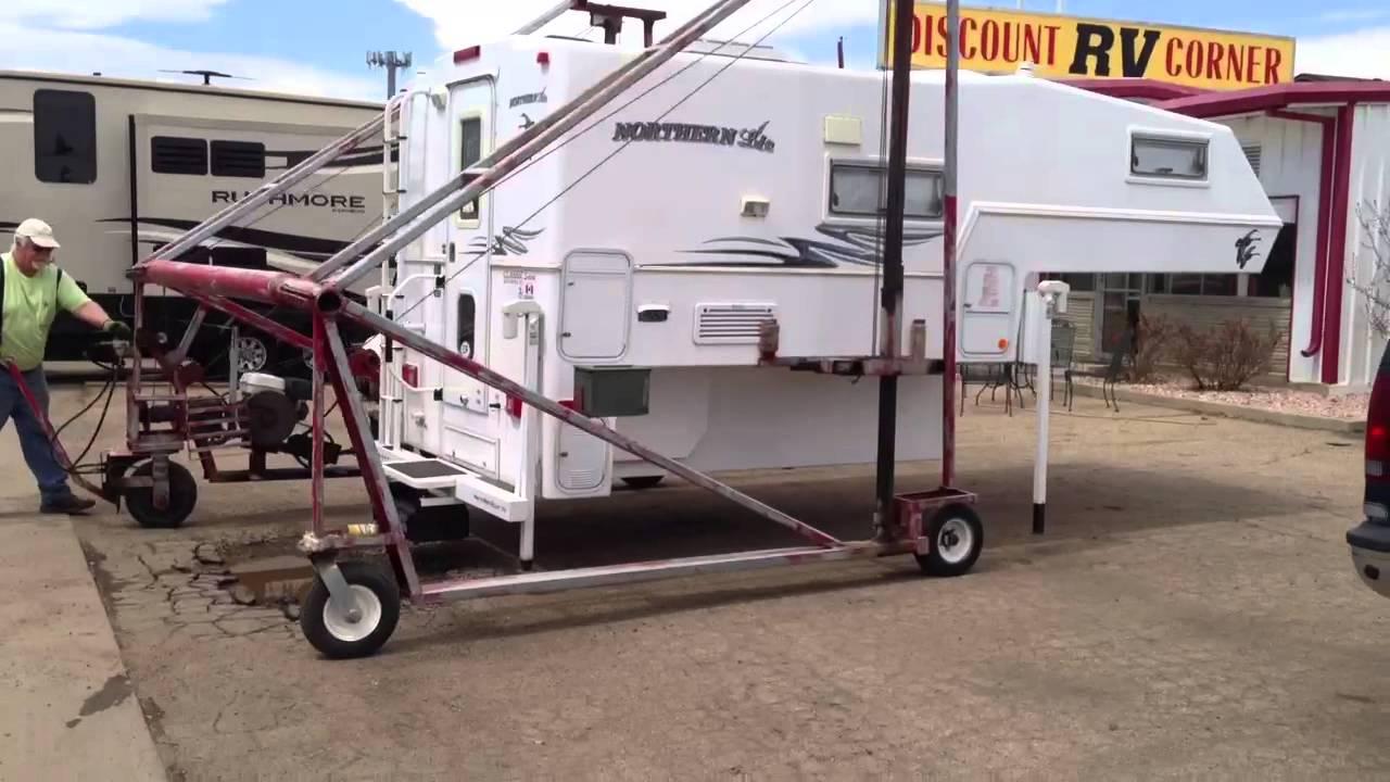 Truck Camper Hoist Youtube
