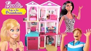Дом Барби Трехэтажный с мебелью для кукол НОВИНКА / Barbie Life in the Dreamhouse 2015(Домик для кукол Барби из мультфильма